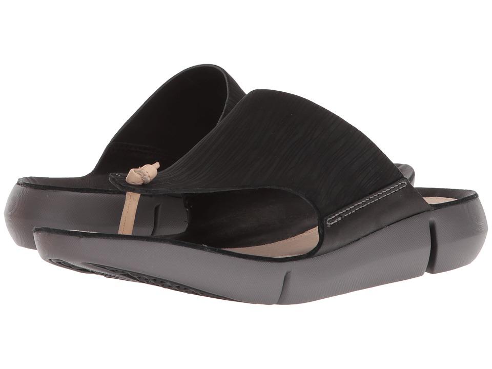 Clarks - Tri Carmen (Black Nubuck) Womens Slide Shoes