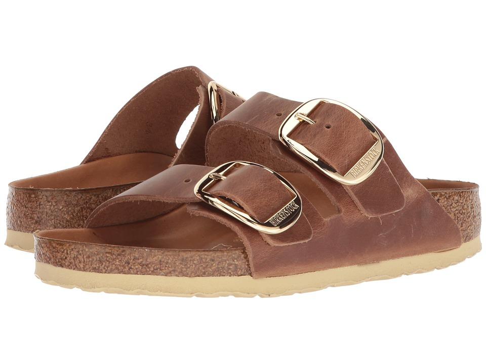 Vintage Sandal History: Retro 1920s to 1970s Sandals Birkenstock Arizona Big Buckle Antique Cognac Leather Womens Sandals $149.95 AT vintagedancer.com