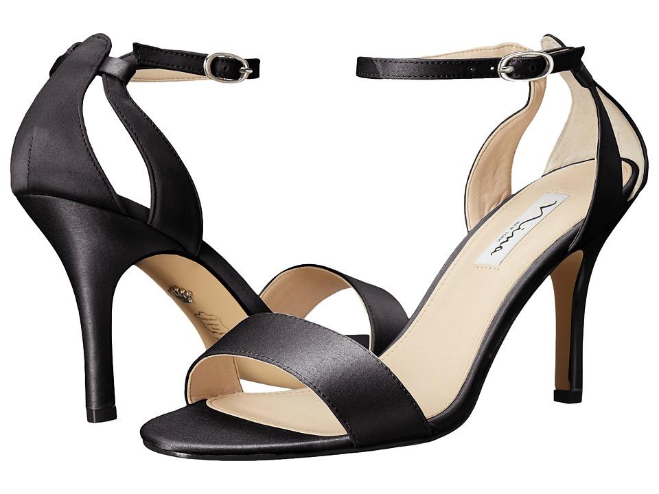 Nina Venetia (Black Luster Satin) High Heels