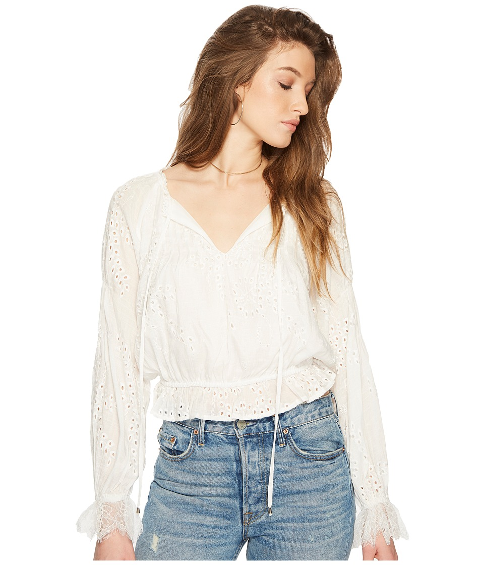 ASTR the Label - Lennon Top (White) Womens Clothing