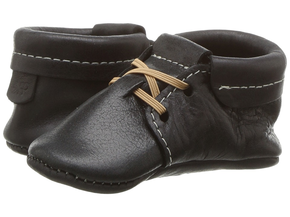 Freshly Picked - Soft Sole Oxfords (Infant/Toddler) (Onyx) Kid's Shoes
