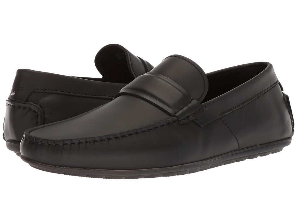 BOSS Hugo Boss - Dandy Moccasin By Hugo (Black Leather) Mens Shoes