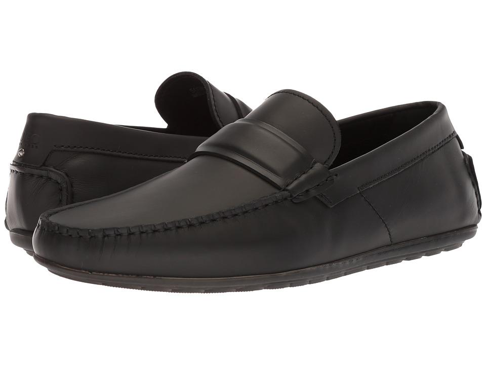 BOSS Hugo Boss - Dandy Moccasin By Hugo (Black Leather) Mens Shoes