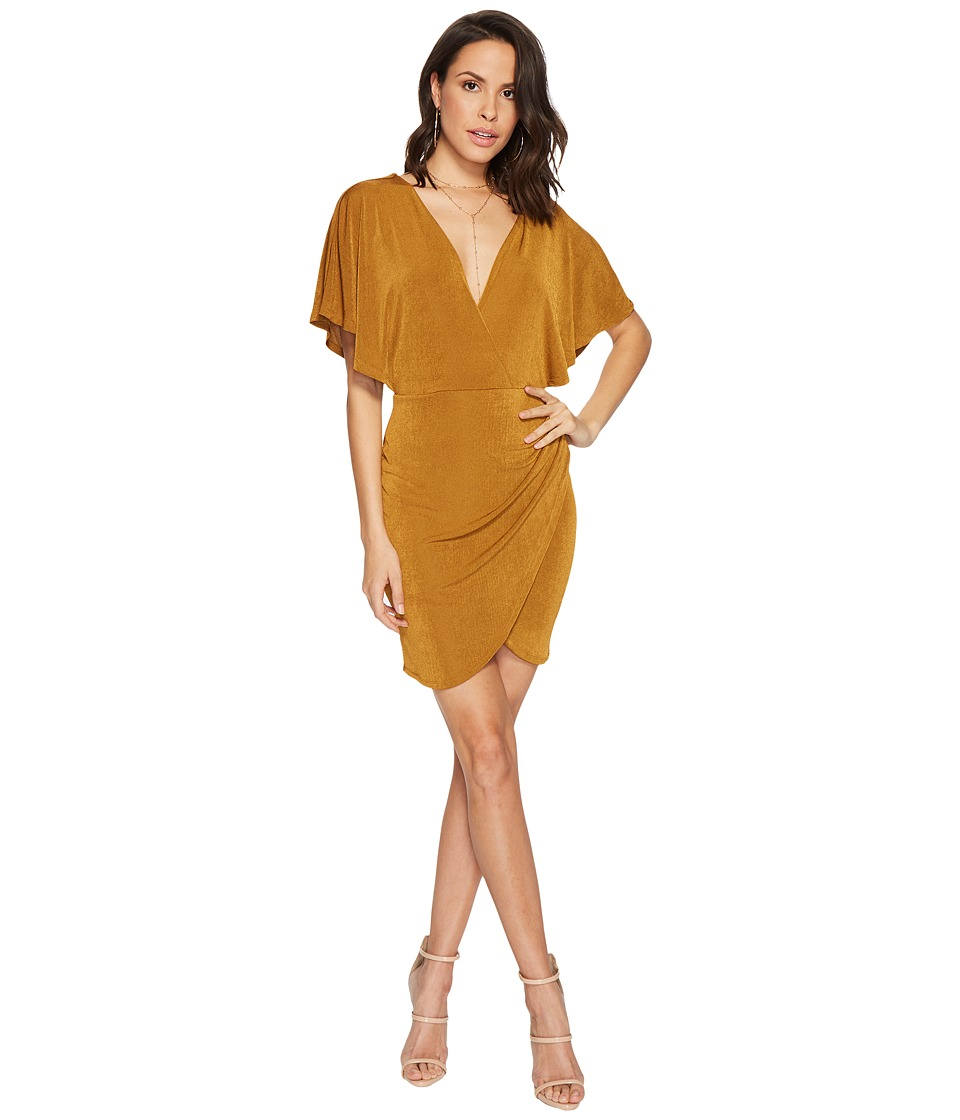 ASTR the Label Haley Dress (Antique Gold) Women