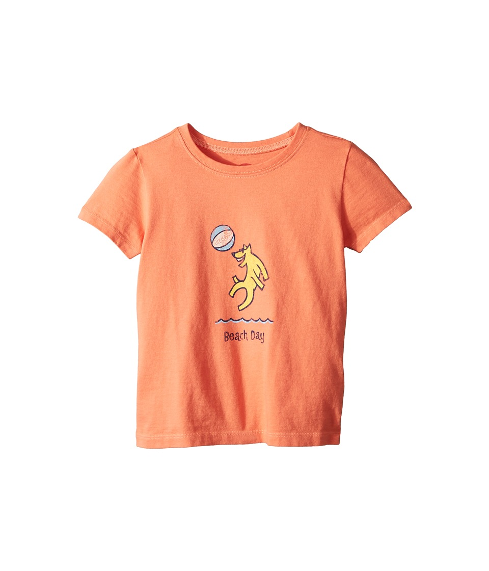 Life is Good Kids - Beach Day Crusher Tee (Toddler) (Fresh Coral) Kids Clothing