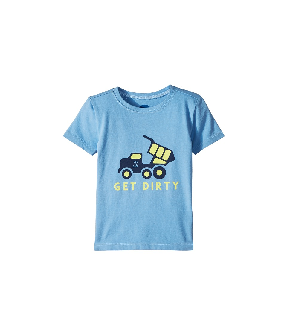Life is Good Kids - Get Dirty Crusher Tee (Toddler) (Powder Blue) Kids Clothing