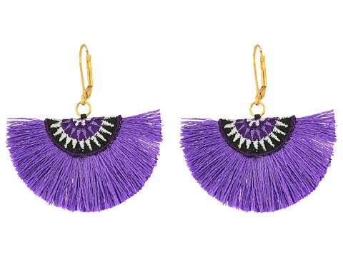 SHASHI Sophia Fan Earrings - Lilac