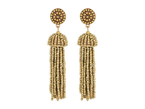 SHASHI Kelsey Beaded Statement Earrings - Gold