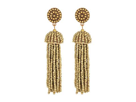 SHASHI Kelsey Beaded Statement Earrings - Gold