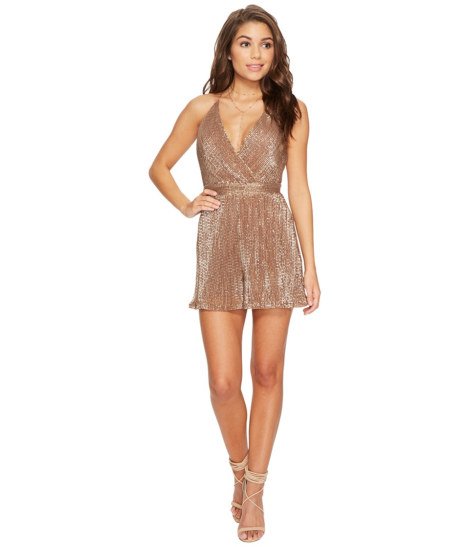 ASTR the Label - Sabrina Romper (Bronze) Womens Jumpsuit & Rompers One Piece