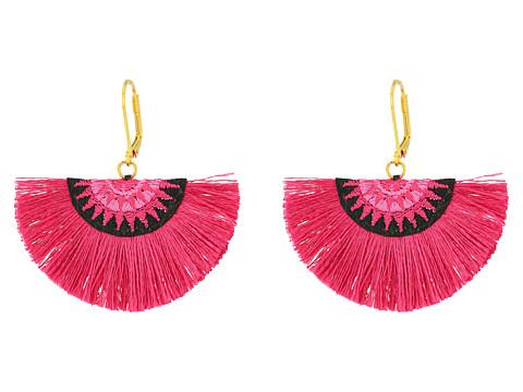 SHASHI Sophia Fan Earrings - Fuchsia