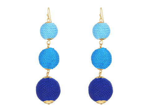 SHASHI Lucy Linear Drop Earrings - Blue