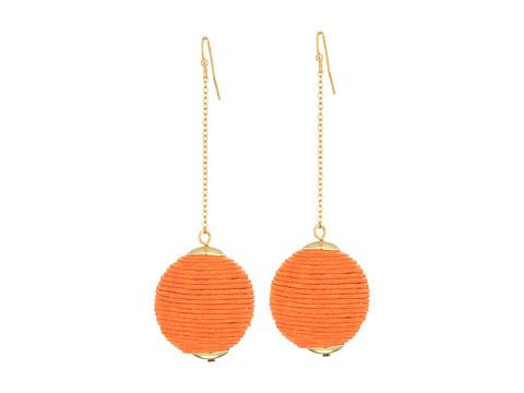 SHASHI Chain Drop Earrings - Peach