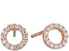 SHASHI - Circle Pave Stud Earrings