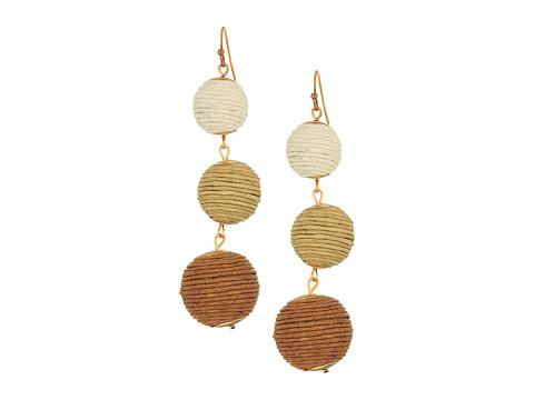 SHASHI Lucy Linear Drop Earrings - Brown