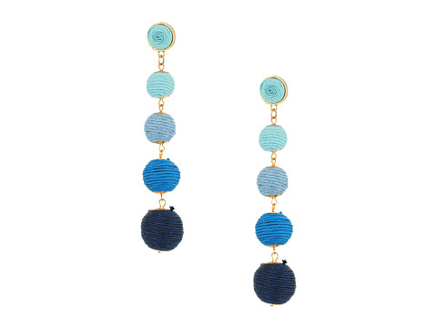 SHASHI Tilda Linear Statement Earrings - Blue