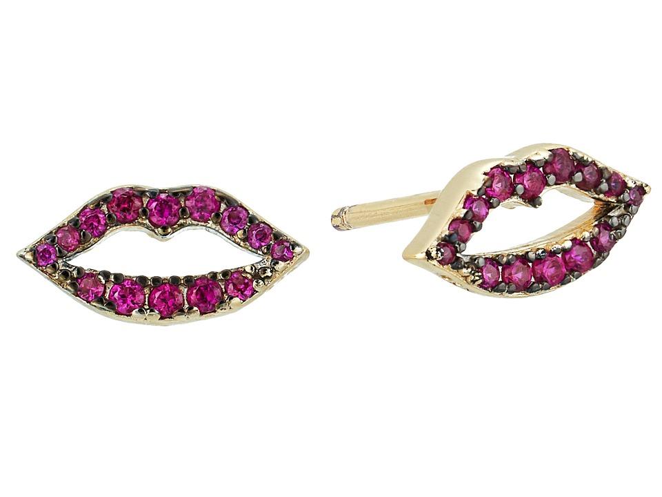 SHASHI - Katie Lips Stud Earrings (Gold/Vermeil) Earring
