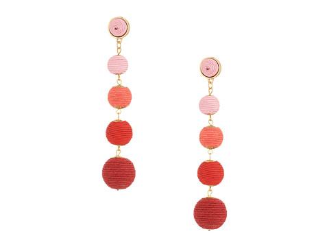 SHASHI Tilda Linear Statement Earrings - Pink