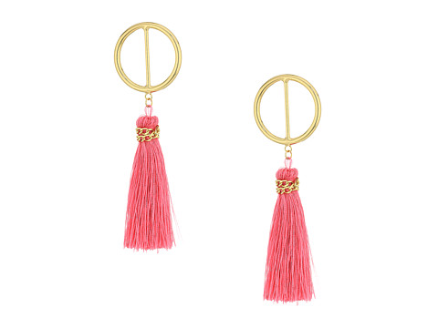 SHASHI Mia Hoop Earrings - Pink