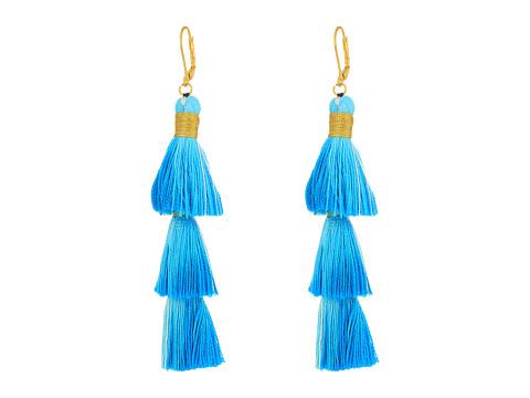 SHASHI Sia Tassel Earrings - Teal