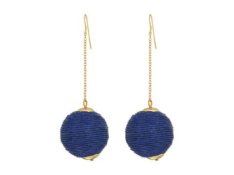 SHASHI Chain Drop Earrings - Blue