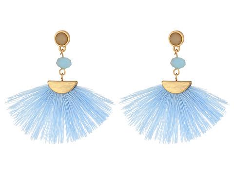 SHASHI Mia Tassel Earrings - Periwinkle