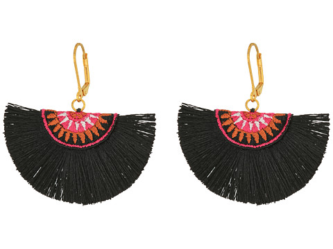 SHASHI Sophia Fan Earrings - Black