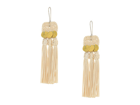 SHASHI River Tassel Earrings - Beige
