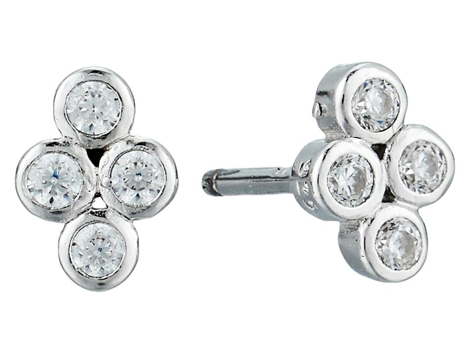 SHASHI - Noa Stud Earrings (White/Gold/Crystal) Earring