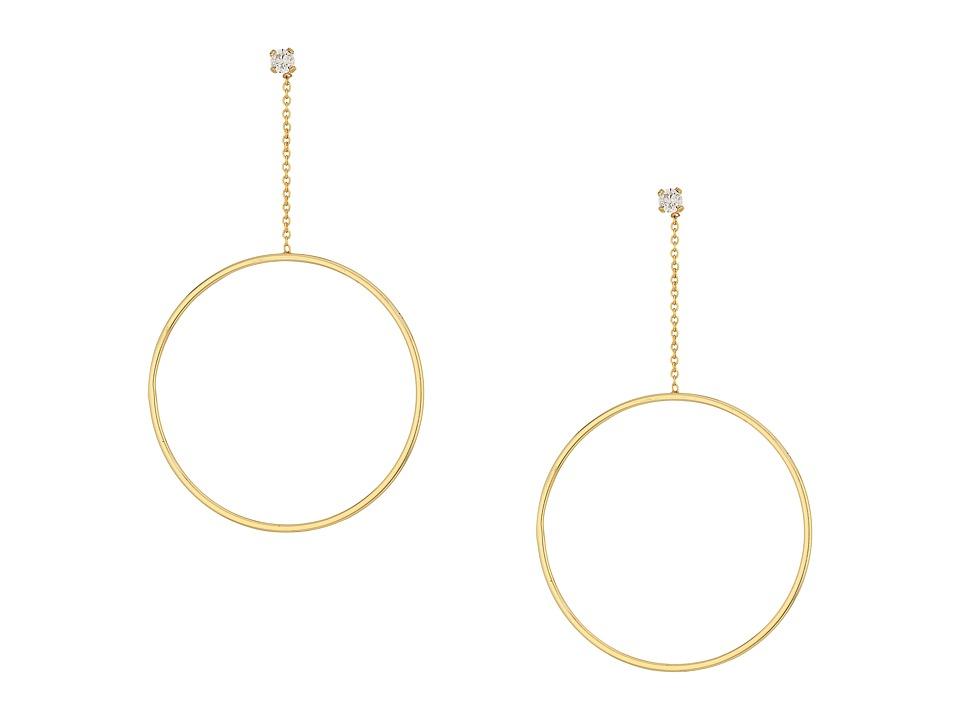 SHASHI - Lauren Hoop Earrings (Gold/Vermeil) Earring