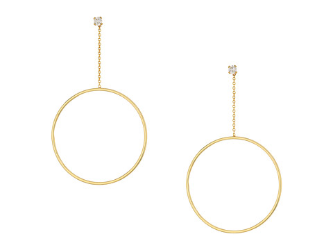 SHASHI Lauren Hoop Earrings - Gold/Vermeil