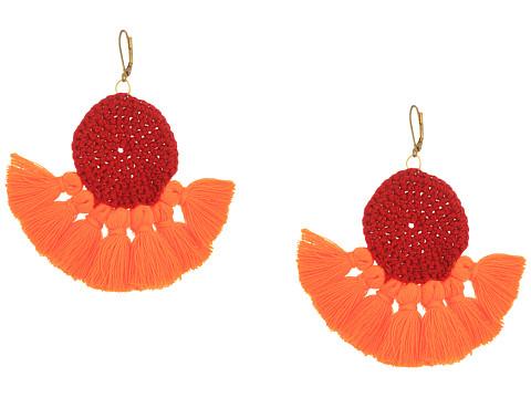 SHASHI Lena Tassel Earrings - Orange