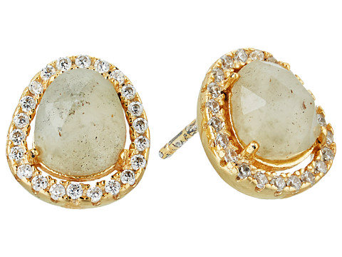 SHASHI Nora Pave Earrings - Gold/Vermeil