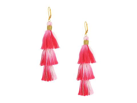 SHASHI Sia Tassel Earrings - Pink