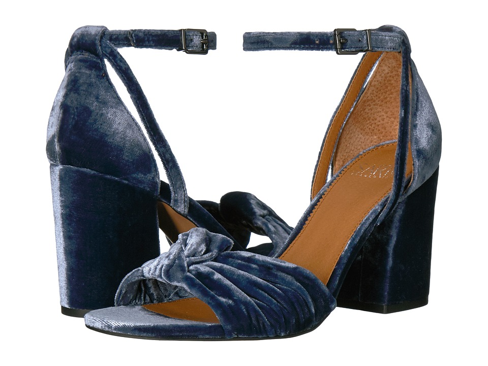 Franco Sarto Edana (Lapis Blue Smart Velvet/Fabric) Women