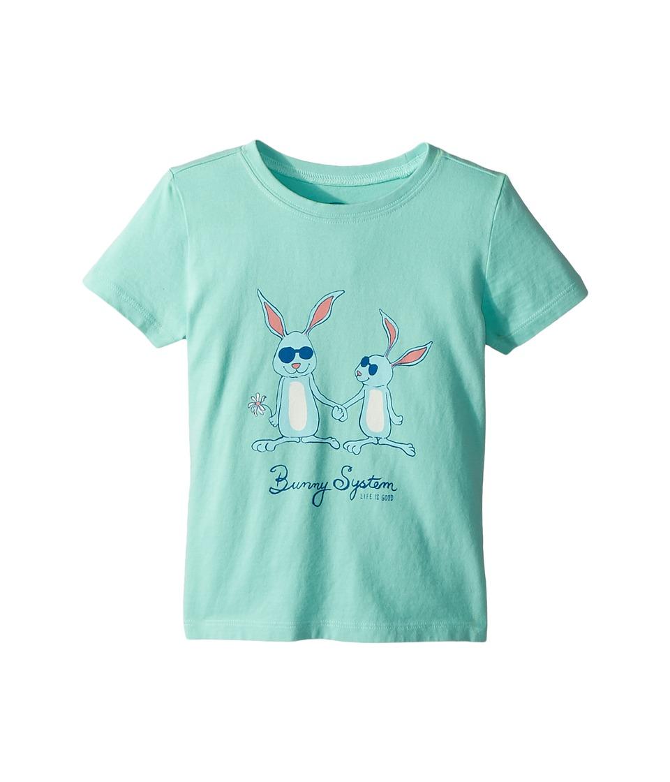 Life is Good Kids - Bunny System Crusher Tee (Toddler) (Cool Aqua) Kids Clothing