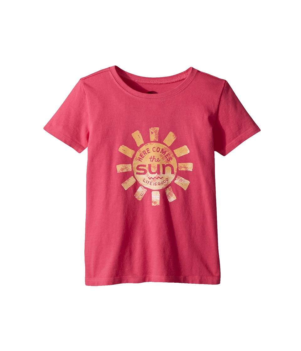 Life is Good Kids - Here Comes The Sun Crusher Tee (Toddler) (Fiesta Pink) Kids T Shirt
