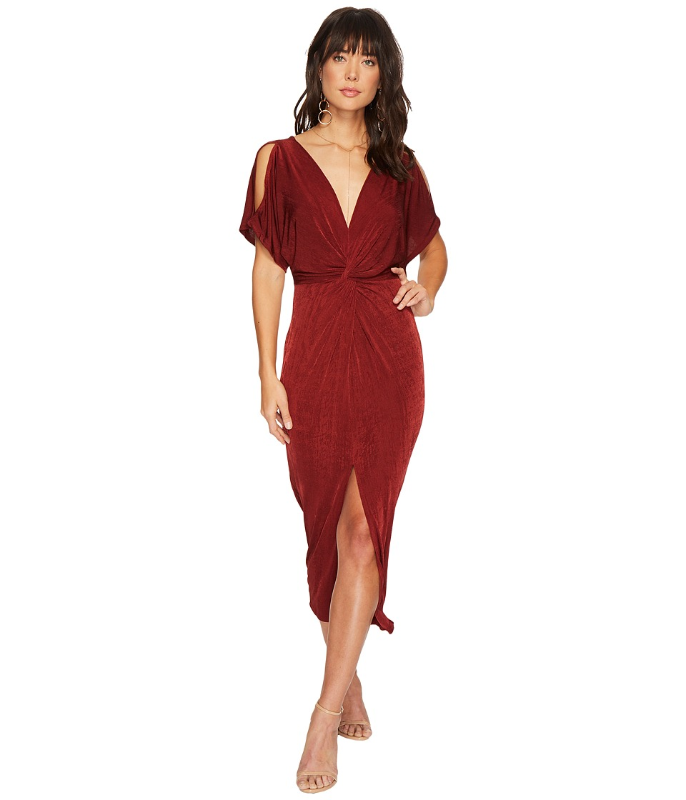 ASTR the Label Kiera Dress (Wine) Women