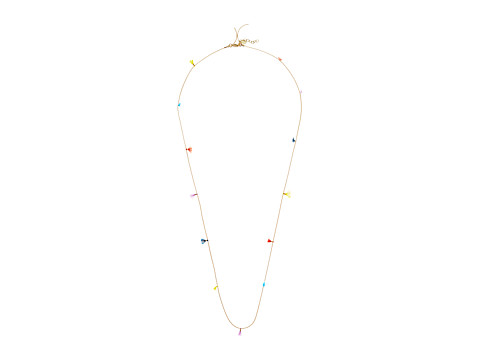 SHASHI Lilu Chain Necklace with Multicolor Tassels - Gold/Vermeil/Multicolored Tassels