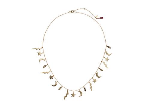 SHASHI Lightening Charm Necklace - Gold/Vermeil