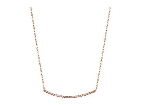 SHASHI Bar Pave Pendant Necklace - Rose Gold/Crystal