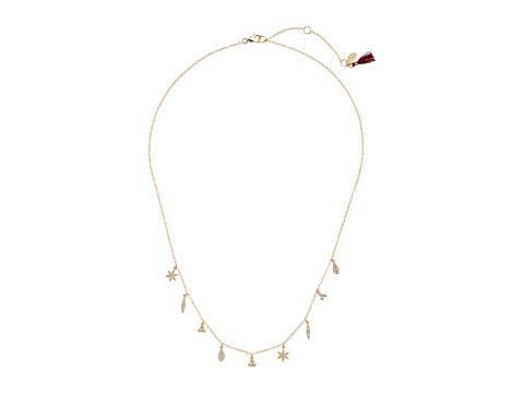 SHASHI Tori Charm Necklace - Gold/Vermeil