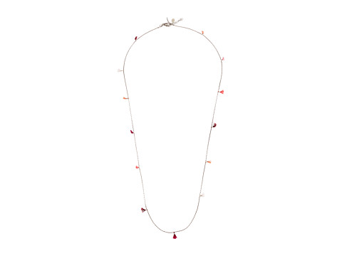 SHASHI Lilu Chain Necklace with Multicolor Tassels - White/Gold/Multicolored Tassels