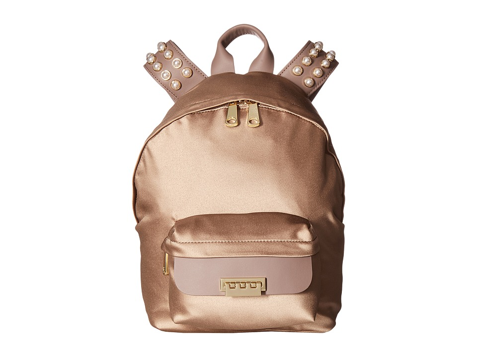 ZAC Zac Posen - Eartha Iconic Small Backpack - Satin (Stone) Backpack Bags