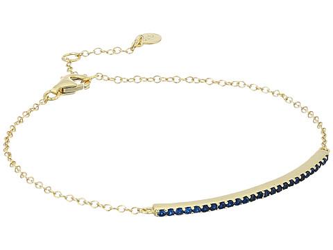 SHASHI Bar Pave Bracelet - Gold/Vermeil/Sapphire