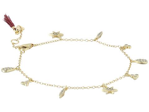 SHASHI Tori Charm Bracelet - Gold/Vermeil