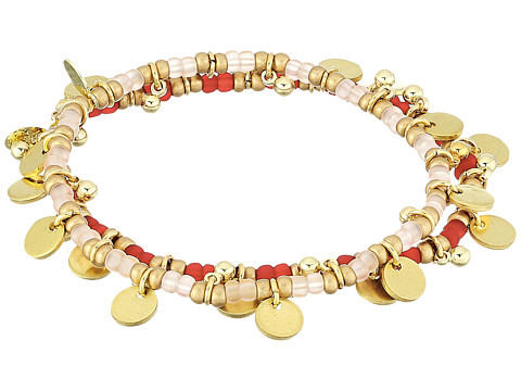 SHASHI Lilu Ball Disc Set of 2 Bracelets - Pink/Red