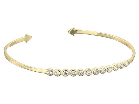 SHASHI Bezel Cuff Bracelet - Gold/Vermeil