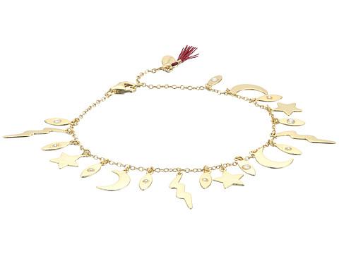 SHASHI Lightning Charm Bracelet - Gold/Vermeil