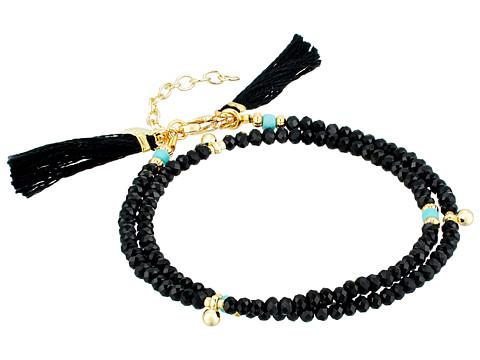 SHASHI Eliza Wrap Bracelet - Black